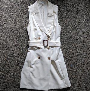 Express Cream Vest Dress